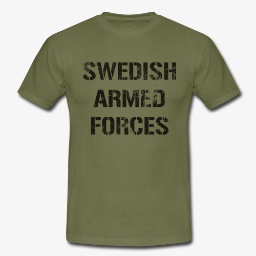SWEDISH ARMED FORCES Rugged + SWE Flag - T-shirt herr