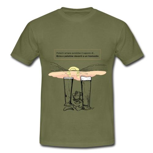 Amore, birra e patatine - Maglietta da uomo