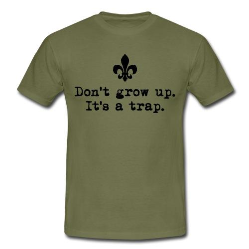 Don't grow up… krickelige kleine Lilie Typewriter - Männer T-Shirt