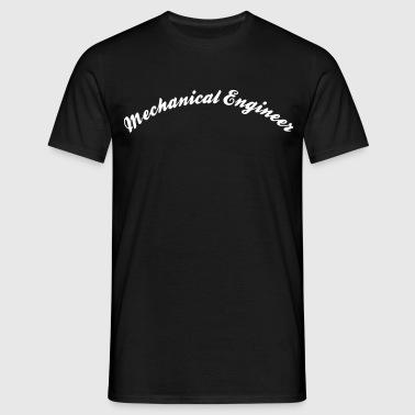 mechanical engineer cool curved logo - Männer T-Shirt