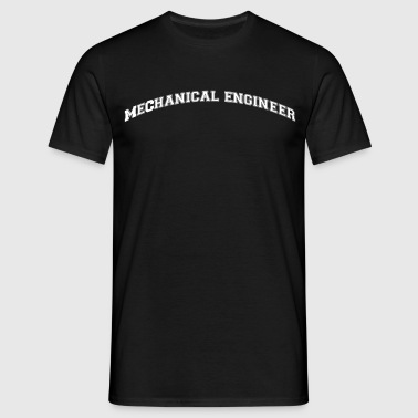 mechanical engineer college style curved - Männer T-Shirt