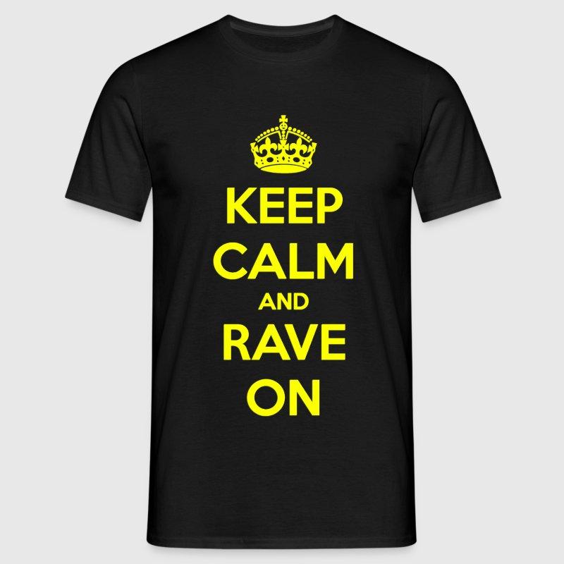Keep Calm Yellow - Mannen T-shirt