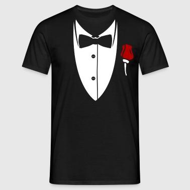 Kraag met vlinderdas en steeg van pak - Mannen T-shirt