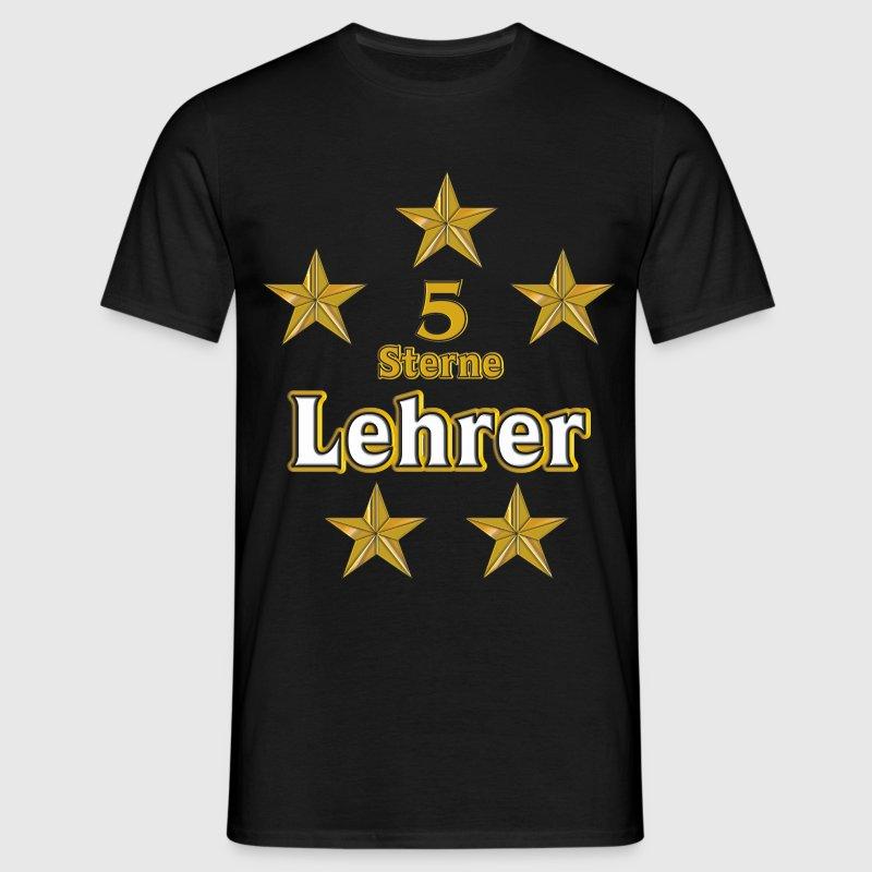 5 Sterne Lehrer - Mannen T-shirt