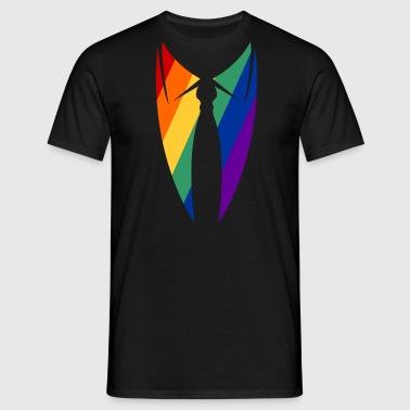 Regenen Borg kraag met stropdas - Mannen T-shirt