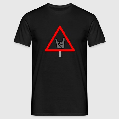 Vorsicht_Metaller_2 - Männer T-Shirt