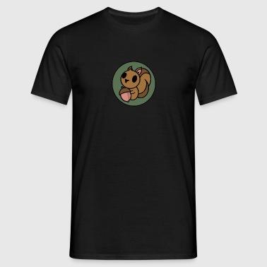 Niedliches Eichhörnchen  - Männer T-Shirt