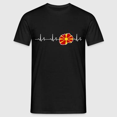 Heartbeat - Makedonia - Miesten t-paita