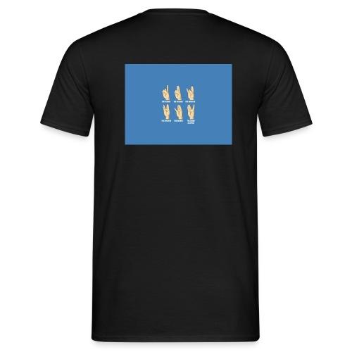 Finger Tee - Herre-T-shirt