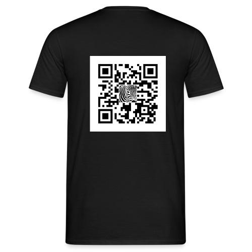 QR Code Want a free belly - Mannen T-shirt