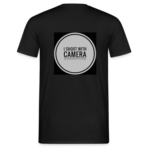 I SHOOT WITH CAMERA - Herre-T-shirt