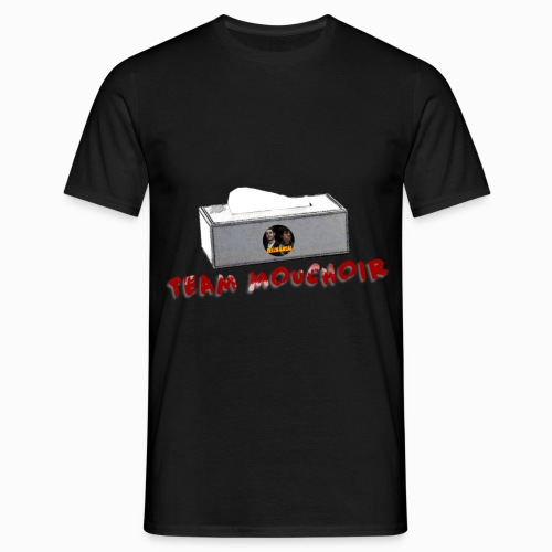 team mouchoir logo version noir sans vitesse png - T-shirt Homme