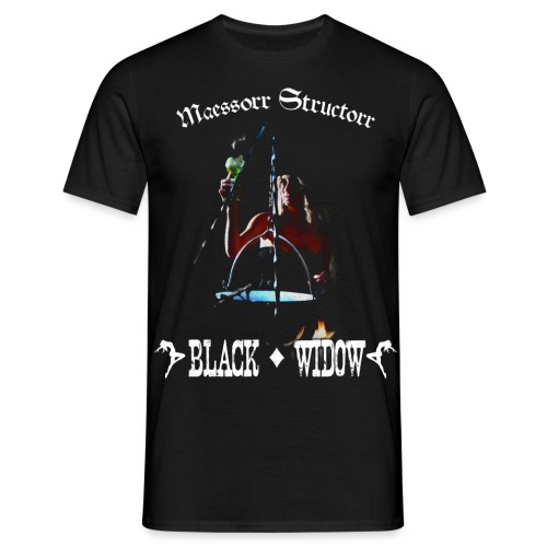 Black_Widow_back - Men's T-Shirt