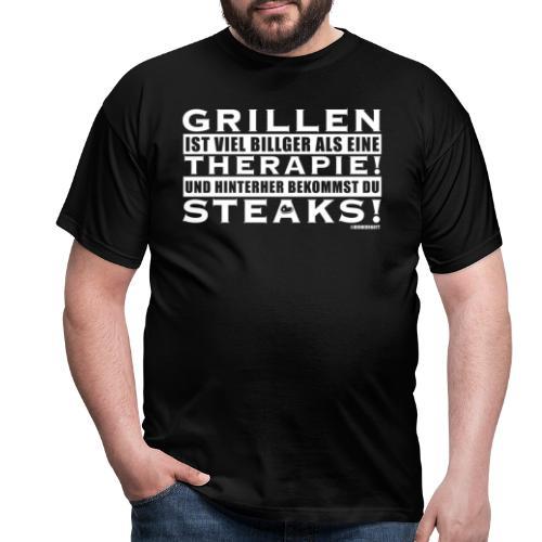Grillen - Therapie - Steaks - Männer T-Shirt