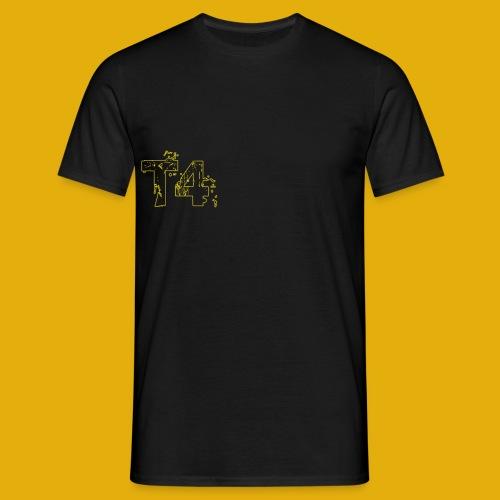 T4 Yellow White - Men's T-Shirt