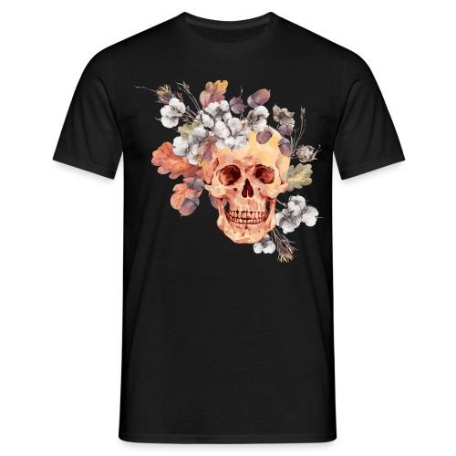 Watercolor skull - Männer T-Shirt
