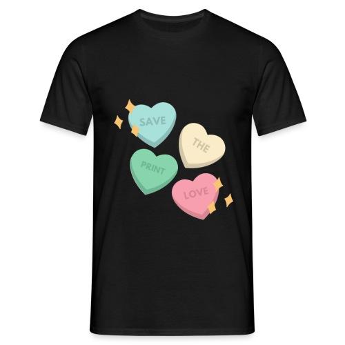 Save Print Love - Maglietta da uomo