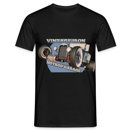 hot rod garage | vintage iron - Männer T-Shirt