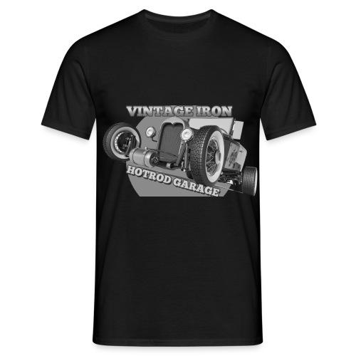 hotrod vintage grau - Männer T-Shirt