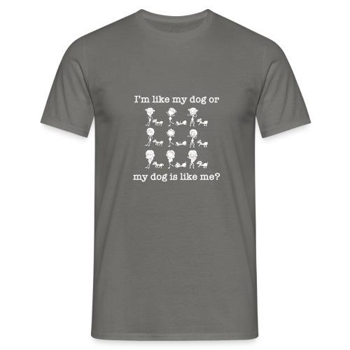 Cane con ragazza divertente - Maglietta da uomo