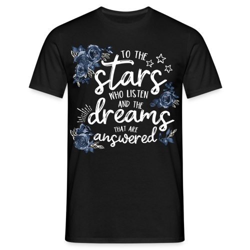 To The Stars White Blue - Männer T-Shirt