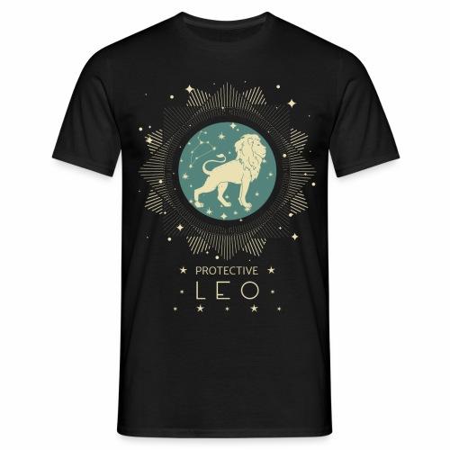 Sternzeichen Löwe Sternbild Geburtstag Juli August - Männer T-Shirt