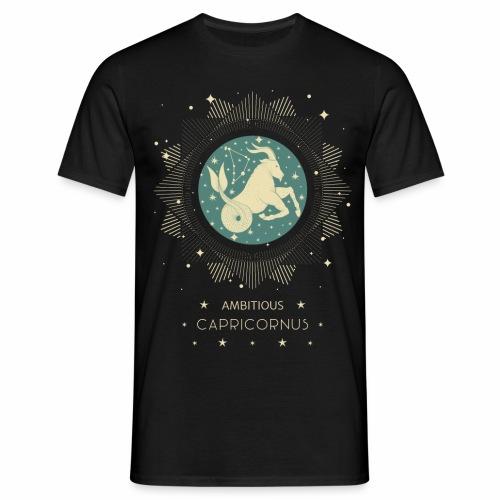 Sternzeichen Ehrgeiziger Steinbock Dezember Januar - Männer T-Shirt
