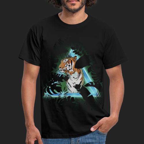 Tigre en soirée - T-shirt Homme