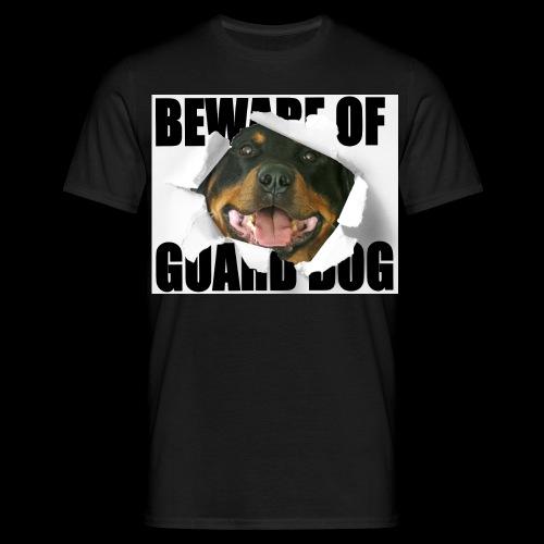 beware of guard dog - Men's T-Shirt