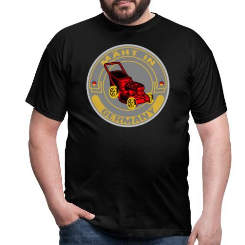 Mäht in Germany Rasenmäher Hobbygärtner Spruch - Männer T-Shirt