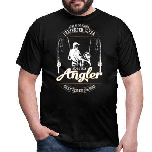 Angler Perfekter Vater - Papa und Angler Sprüche - Männer T-Shirt