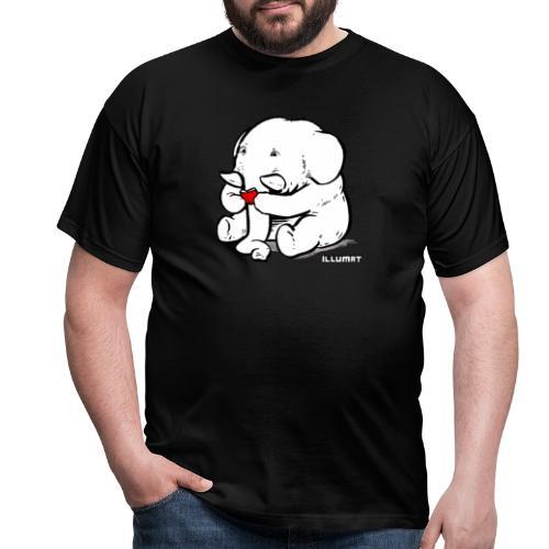 Stef 0002 00 Lesefant - Männer T-Shirt