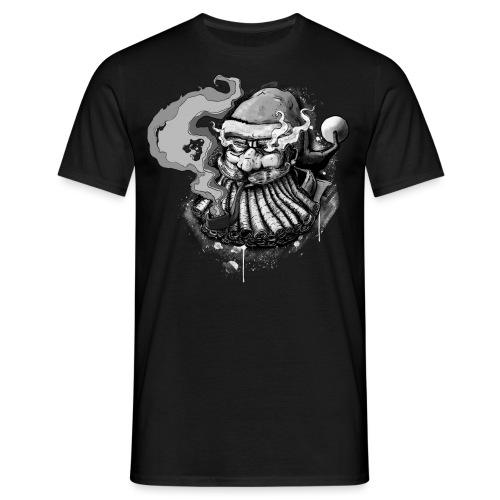 Santa SMOKED B / W - Men's T-Shirt