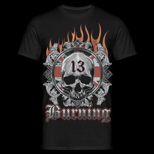 13 burning 4k - Men's T-Shirt