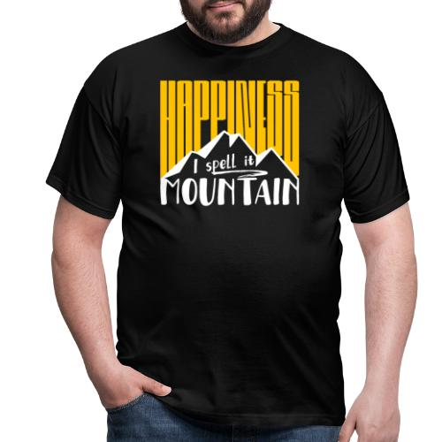 Happiness I spell it Mountain Outdoor Wandern Berg - Männer T-Shirt