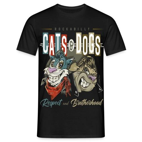 Gatos y perros - Camiseta hombre