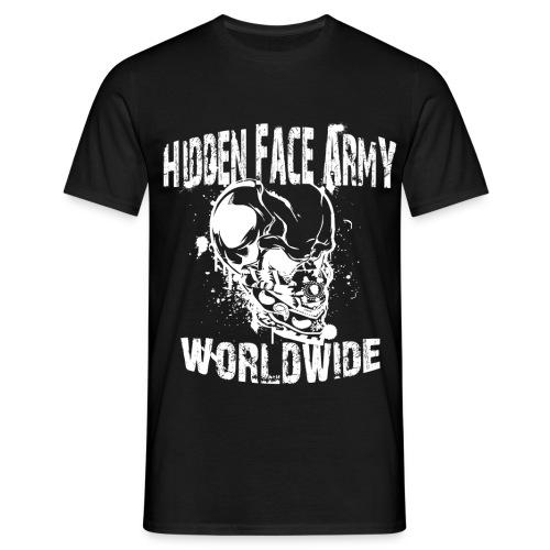 Hidden Face Army Worldwide TMR Grafix Weisss png - Männer T-Shirt