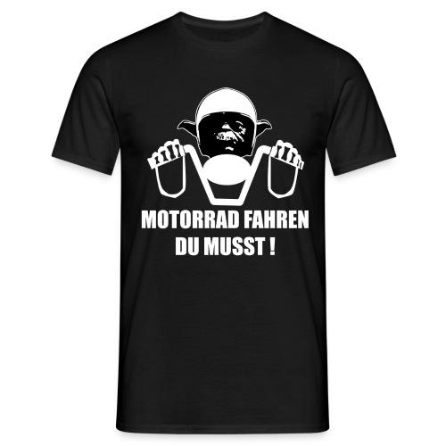 YODA | MOTORRAD FAHREN DU MUSST | fun | lustig | - Männer T-Shirt