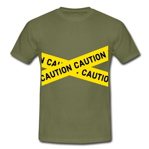 caution - Männer T-Shirt