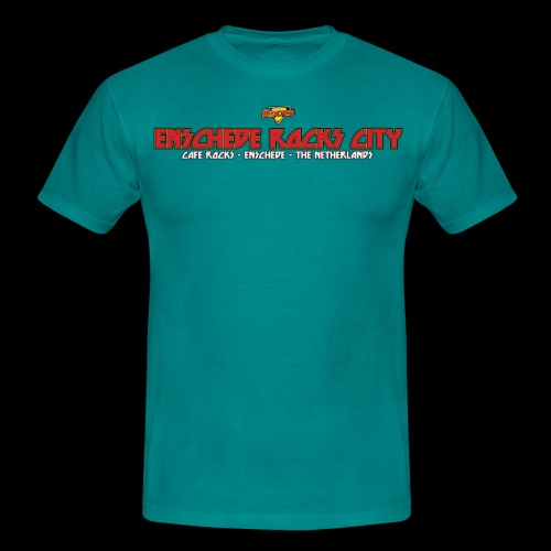Enschede Rocks City - Mannen T-shirt