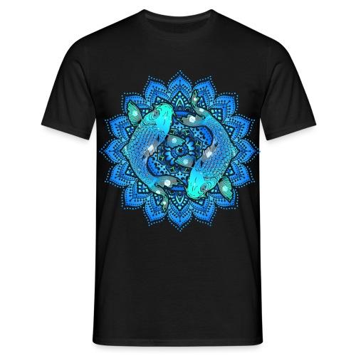Asian Pond Carp - Koi Fish Mandala 1 - Männer T-Shirt