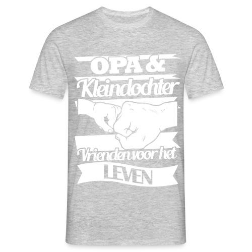 Opa en kleindochter vrienden voor het leven - Mannen T-shirt