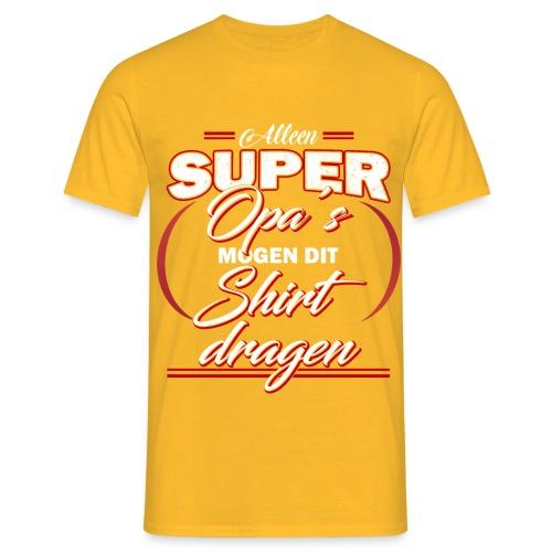 Alleen super opa's vaderdagcadeau - Mannen T-shirt