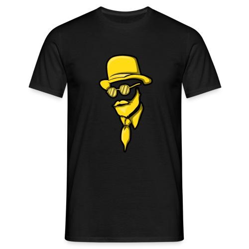 Man Mann Mit Bart Bärtiger Bartträger Hut Elegant - Männer T-Shirt