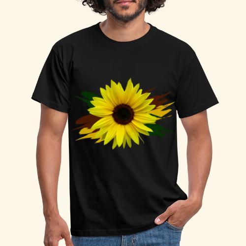 Sonnenblume, Sonnenblumen, Blume, floral, blumig - Männer T-Shirt