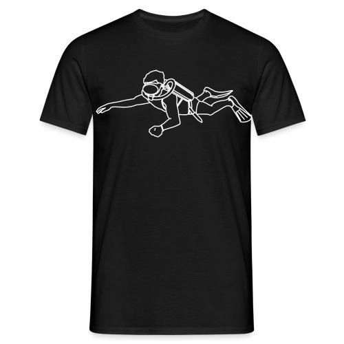 trpdlogotaucherweiss - Männer T-Shirt