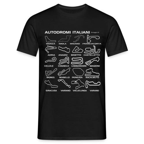 piste italiane bianco - Maglietta da uomo