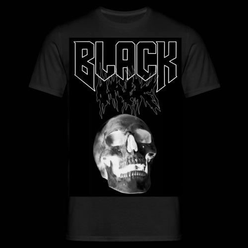 Black ink inverted skull - T-shirt herr