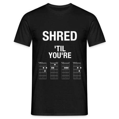 ShredTilYoureDead trans - Men's T-Shirt
