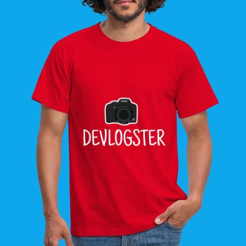DeVlogster + camera logo - Mannen T-shirt